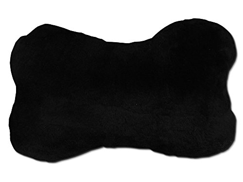 Reissner Lammfelle Coussin pour Nuque/Appui-tête en Peau de Mouton Noir