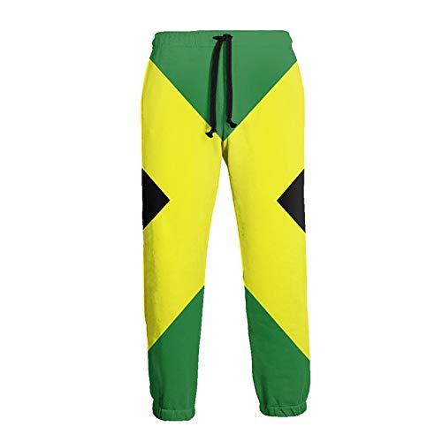 Olverz Herren Jogger Hose Jamaika Flagge Jamaican Pride Atmungsaktive Gym Pants Soft Athletic Pants Gr. 34-37, Schwarz