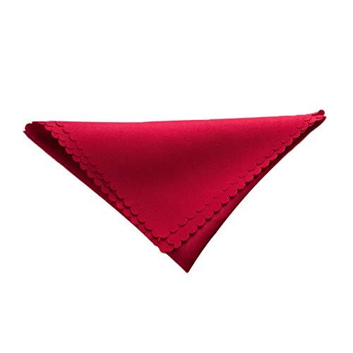 iTemer 5 piezas simple moderno jacquard color sólido servilleta de poliéster cuadrada servilleta restaurante de cocina hotel suministros servilletas Rojo 48 * 48cm