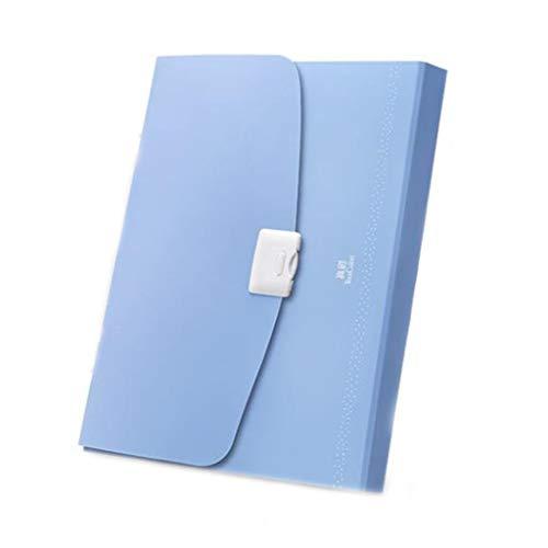 HGDFD Aktentasche, A4 Tragbare Orgel Tasche Aktenpaket, Multi-Funktions-Student Klassifikation Aktentasche 13 Test Büroklammer Multi-Layer-Aktentasche (Color : Blue)