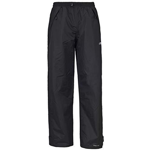Trespass - Pantalones Impermeables Modelo Tutula Mujer Señora - Excursiones/Montaña/Senderismo (XXS/SL) (Negro)