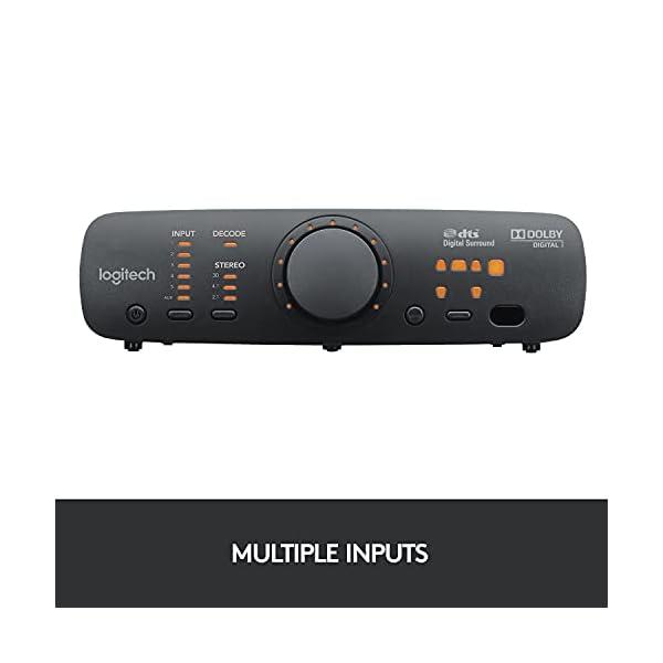 Logitech Z906 5.1 Surround Sound Speaker System – THX, Dolby Digital and DTS Digital Certified – Black