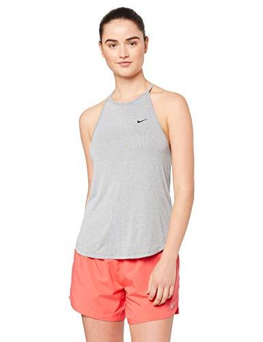 Nike Damen Dri-fit Striped Sport Tank Top, Schwarz (Black/Heather/Black 010), Large
