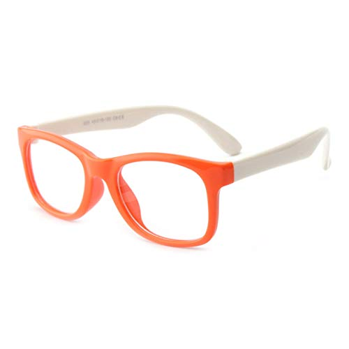 Kbs825 - Gafas de sol (silicona, sin lentes para niñas, marco de color naranja, patas blancas)