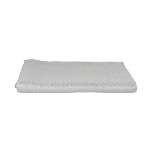 LANGDHUUS – Manta original de 150 x 220 cm, color gris de ley, 100% algodón bio, manta de verano