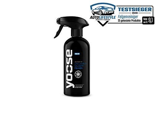 yoose Premium Felgenreiniger | 1 x 500 ml Sprühflasche | pH-neutral | säurefrei | Professionelle Felgenpflege für Alu- und Stahlfelgen