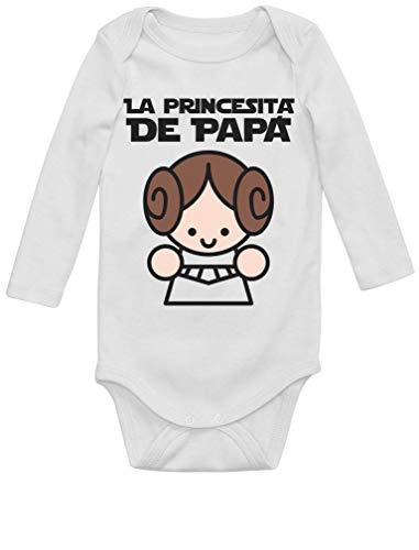 Body de Manga Larga para bebé Regalos Originales para Padres Primerizos - La Princesita de Papá 12-18 Mes Blanco