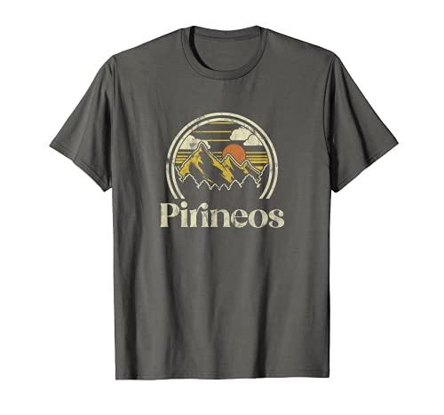 Retro Pirineos Montañas Senderismo Vacacionistas Montañas Camiseta