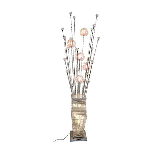 Staande Lamp Woonkamer Slaapkamer Creative decoratieve vaas Aluminium Crystal LED Lamp (Color : Silver, Size : 20cm*150cm)