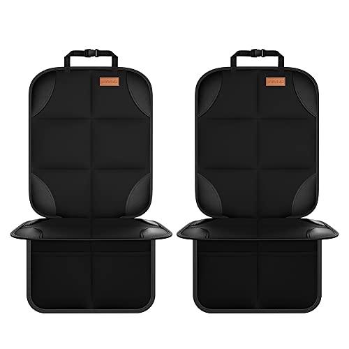 Smart eLf Protectores de Asiento para Coche Impermeable - 2 piezas Protector de Asiento de Bebe para los Asientos de Coche, Protector Seguro para Asiento Infantil - Compatible Isofix