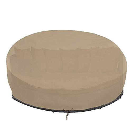DSGYYK Cubiertas de Muebles de jardín al Aire Libre Impermeables Cubiertas de Polvo de Lluvia y Nieve Protección contra Rayos UV Sofá de Cama Redonda Sofá de Mesa Silla Cubierta a Prueba de Polvo