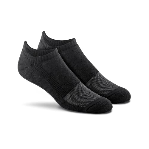FoxRiver Wick Dry Triathlon Ankle Tab Sports Socks Lightweight Men's Athletic Socks with Moisture Wicking Performance Fabric - Black - Medium