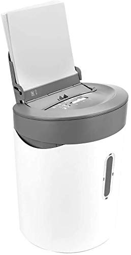 Best Price Mopoq Cross-Cut Paper Shredder,50Sheet Capacity,Exclusive Hybrid Technology Manual 6 Shee...