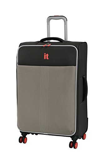 it luggage Filament 8 Wheel Lightweight Semi Expander Suitcase Medium Maleta, 70 cm, 88 Liters, Gris (Grey Rhapsody)