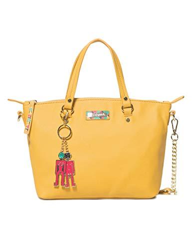 Desigual Bag Colorama Gela Women - Borse a tracolla Donna, Giallo (Ocre), 10.5x22x25 cm (B x H T)