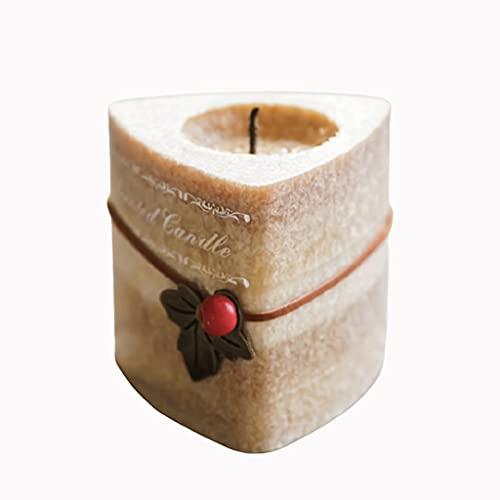 Natale aromaterapia a candela triangolo romantico candela da candlelight cena compleanno regalo di nozze senza fumo fiamma candela