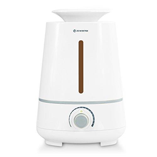 Zoweetek Humidificador de Aromaterapia / Ultrasónico Cool Mist , Nivel Constante de Humedad, Control de Vapor, Temporizador Sin Ruido 3.5L