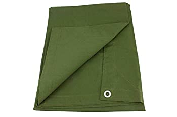 Mytee Products 16  x 20  Green Canvas Tarp 12oz Heavy Duty Water Resistant