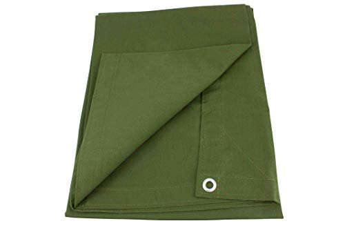 Mytee Products 16' x 20' Green Canvas Tarp 12oz Heavy Duty Water Resistant