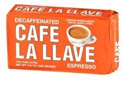 La Llave Cafe Decafeinated Espresso / Cuban Coffee 8.8oz 3 Pack
