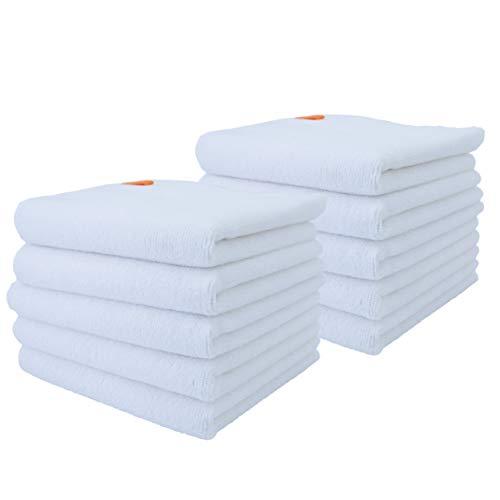 Polyte - asciugamano per neonato in microfibra premium anti-pelucchi - ipoallergenico - bianco - 33 x 33 cm - 10 pezzi