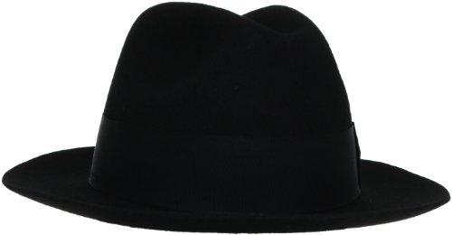 Stacy Adams Men's Felt Fedora, Black, Large