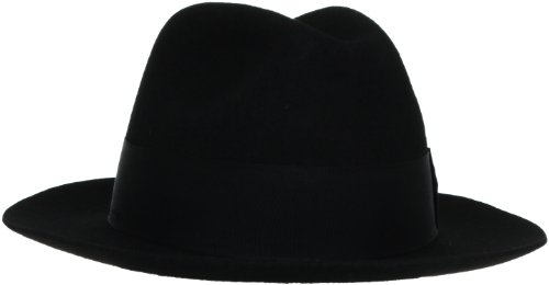 Stacy Adams Men's Wool Felt Fedora, Black, XX-Large