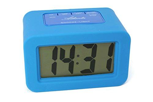 ATLANTA Digital Despertador Azul Cuarzo LCD con números 1971–5