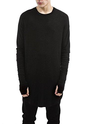 LILBETTER Mens Hipster Hip Hop Ninja Swag Top Tee T-Shirt (Black,Large)