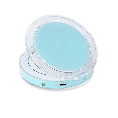ZCJB Miroir Cosmétique Conduit Détection Tactile USB Plier Mini Portable Éclairé Miroir de Maquillage CG1812 (Couleur : Green)