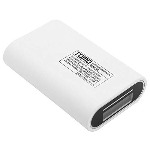 Durable TOMO M3 DIY Cargador 3 x 18650 Baterías Bank Bank Shell Caja con pantalla LCD y 2 salida USB, para iPhone, Galaxy, Sony, HTC, Google, Huawei, Xiaomi, Lenovo y otros teléfonos inteligentes (Neg