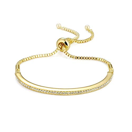Philip Jones Gold Friendship Bracelet Created with Austrian Crystals