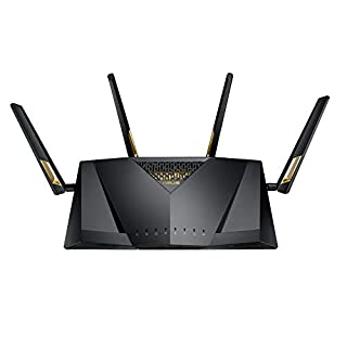 ASUS RT-AX88U, AX6000 Dual Band 802.11ax WiFi Router supporting MU-MIMO and OFDMA technology, with AiProtection Pro, Black (B07J3JQWNS) | Amazon price tracker / tracking, Amazon price history charts, Amazon price watches, Amazon price drop alerts