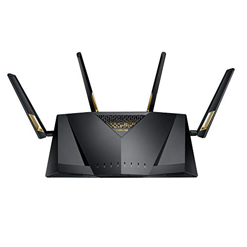 ASUS RT-AX88U AX6000 Dual Band WiFi 6 Router (802.11ax) (Black) Gaming Router Supporting MU-MIMO and OFDMA Technology, with AiProtection Pro Network Security Powered by Trend Micro™ and Adaptive QoS