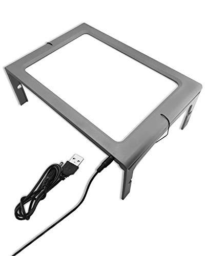 折りたたみ式拡大鏡 ライト付き 倍率3倍 読書用 大きな拡大 ハンズフリーアクリルフルページ拡大鏡 2種類の電源モード ポータブル拡大鏡ページ 読書のため デスクトップライト…