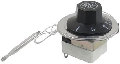DealMux AC 16A 250V 30-110 Celsius 1NO 1NC Capilar temperatura termostato