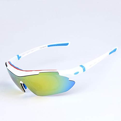 Gafas De Ciclismo Gafas De Sol Deportivas Polarizadas para Hombres Y Mujeres, para Correr, Conducir, Pescar, Golf, Béisbol,White Blue
