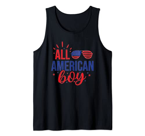 All American Boy 4 de julio Niños Niños Gafas de sol Familia Camiseta sin Mangas