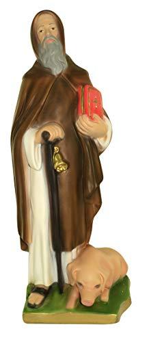 Ferrari & Arrighetti Estatua San Antonio Abad en Yeso Pintada a Mano - 33 cm