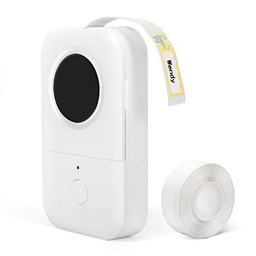 Phomemo D30 Bluetooth Etikettendrucker,Tragbarer Bluetooth Thermoetikettierer,Label Drucker Aufkleber Etikettendrucker,Für Zuhause,Schule,Büro,Supermarkt,Datum,Name, Kompatibel mit Android & iOS,Weiß