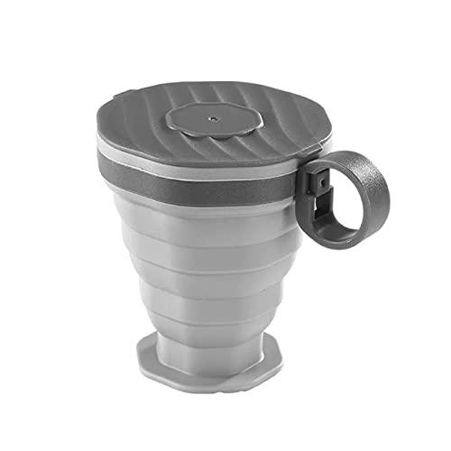 LYR Taza de Agua Plegable de Silicona con Tapa Plegable 220ml Taza portátil Plegable al Aire Libre Tazas de consumición Plegables de Tazas de Agua para Acampar