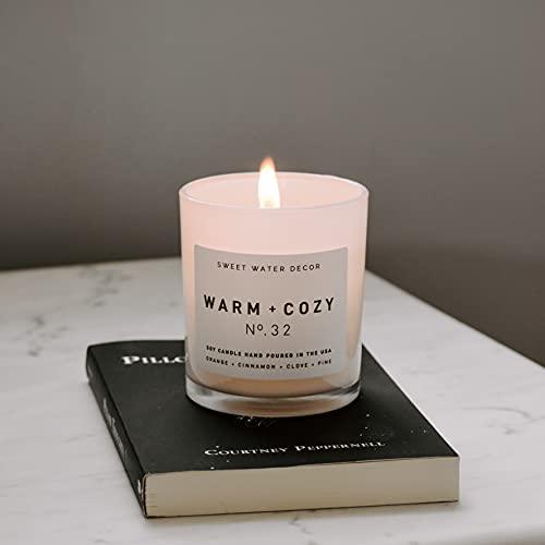 cozy fall scented candle