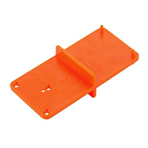 Exing Ortungsgerät für Bohrloch, 35 mm, 40 mm, Lochöffnung, Werkzeughalter, Basteln, Schreinerwerkzeug, Orange, 20 cm