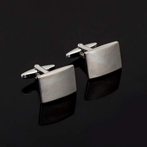 jiao Fashion Square Silber Metall Manschettenknopf Für Herren Shirt Markenanzug Manschettenknöpfe Manschettenknöpfe Schmuck