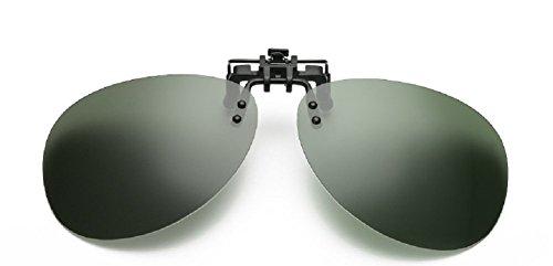 Embryform Polarized Clip-on Flip Up Gafas de Sol de plástico Lentes Gafas de conducción al Aire Libre de Pesca Ciclismo