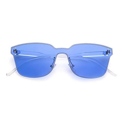 SXRAI Übergroße randlose Damenbrille Sonnenbrille Herren Clear Purple Pink Orange Windproof Uv400,C5