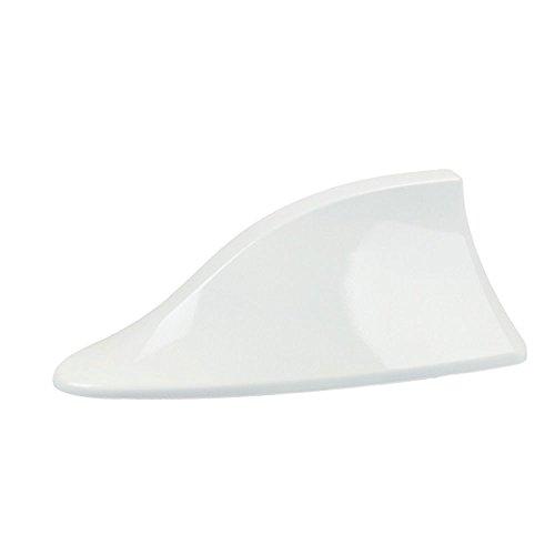 Sedeta® Blanc Antenne aérienne de Signal de Radio AM FM de Fin de Requin de Toit de Voiture avec adhésif pour Aile de to