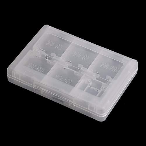 Kailisen 28 en 1 Caja de Cartucho con Soporte para Tarjeta de Juego para Juegos Nintendo DS 3DS (Blanco)