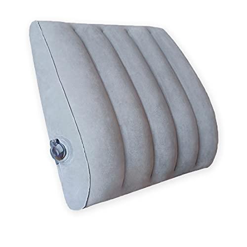 Maytop Poduszka podtrzymująca lędźwiowe poduszka tylna, łatwa do nadmuchania/spuszczania przez zawór, zawór zapobiegający zwrotowi powietrza oszczędza czas i oszczędza pracy, lekka i przenośna nadmuchiwana poduszka