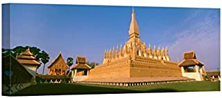 Easy Art Prints Panoramic Images's 'PHA That Luang Temple, Vientiane, Laos' Premium Canvas Art - 40